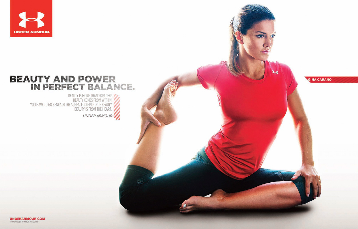 Pic: New Under Armour Ad Featuring Gina Carano - MMAmania.com