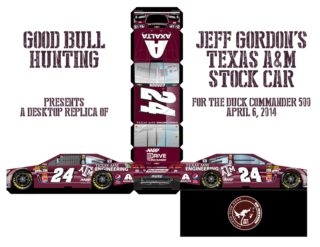 Texas Am Desktop Cutout Jeff Gordons Aggie Stock Car Good Bull