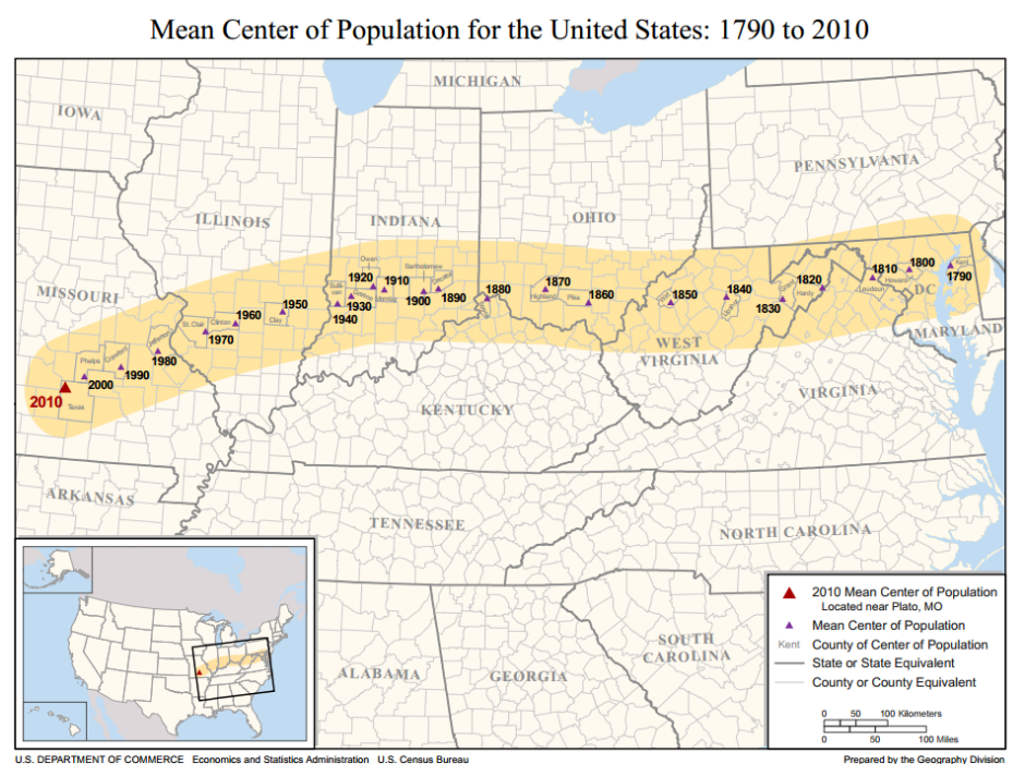Maps That Explain America Vox - Us population density map 1790