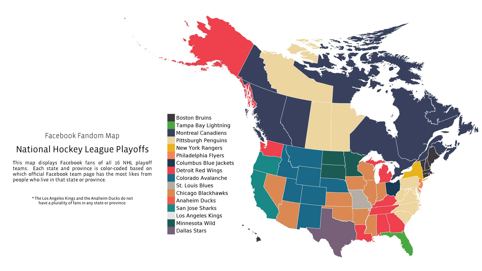 NHL Playoffs map shows who North Americans are rooting for