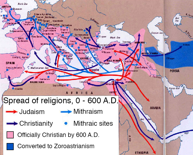 How the Middle East gave Europe religion, three times