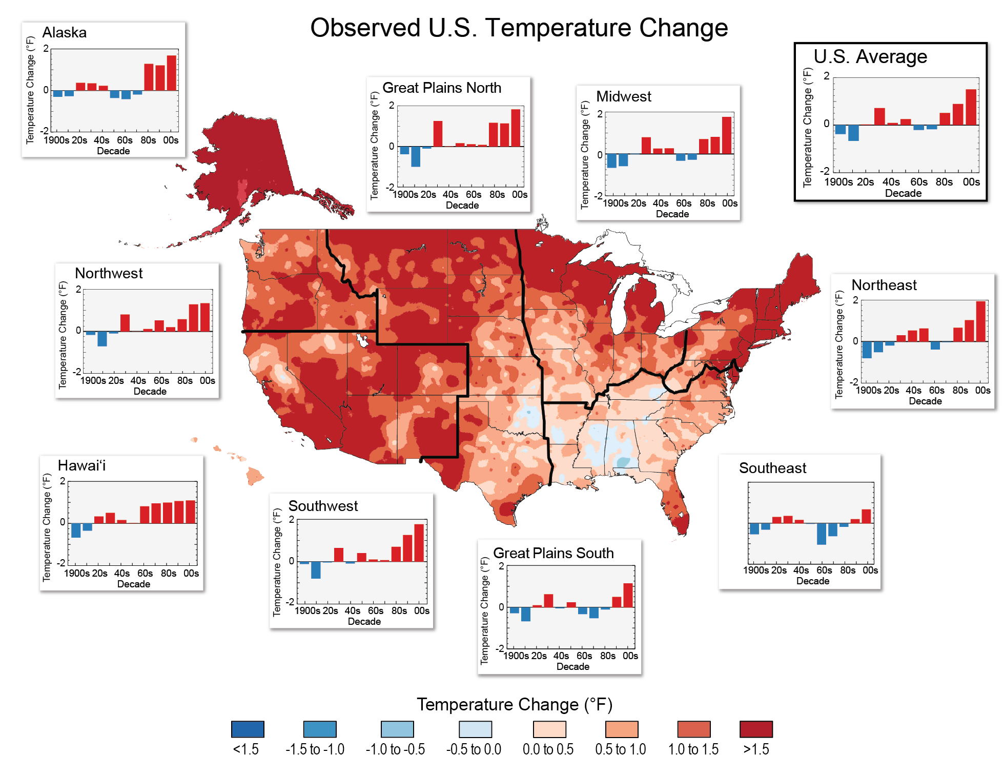 Nine Maps That Show How Climate Change Is Already Affecting The US - Show map of the us