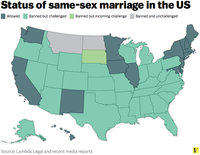 Same sex marriage us map picture 59