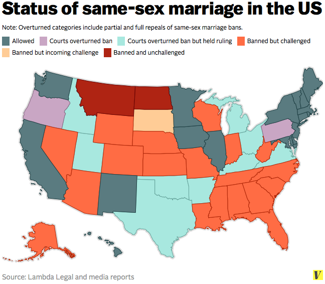 Same sex marriage us map picture 12
