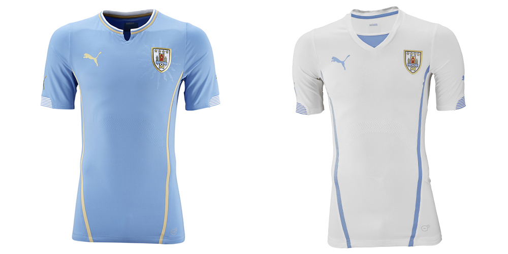 a8663bfff3a La Celeste mark Puma's first appearance on the list as we make our way out  of the World Cup kit top tier. The home shirt is nice, featuring the club's  ...