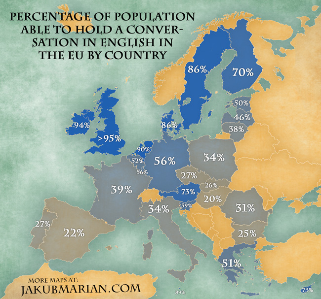 Map Where Europeans Speak English Vox: Europe Map In English At Infoasik.co