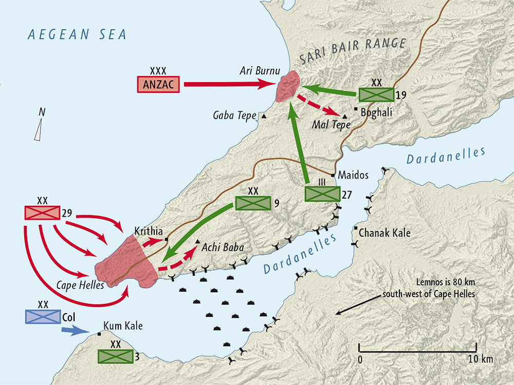 The Gallipoli campaign: the Allies try to invade Turkey