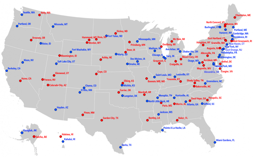 The most liberal and conservative big cities in America, in ...