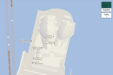 Google Maps 3D attractions Sydney Opera House