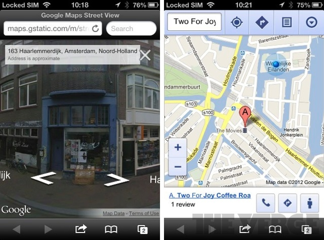 Google Maps Street View Now Live In IOS Web App | The Verge