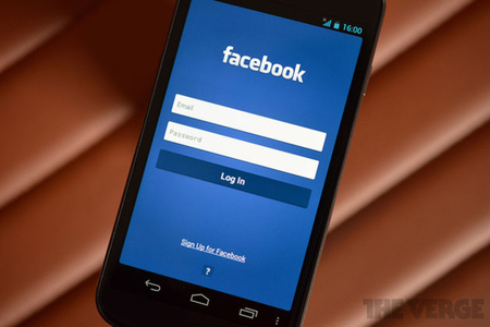 Facebook Android login screen (stock)