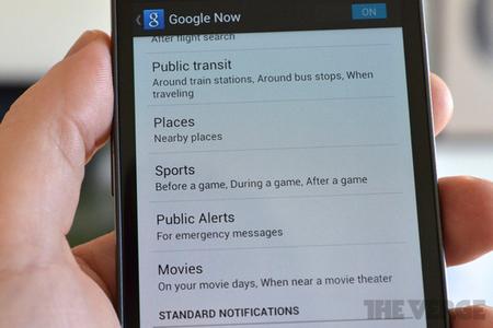 Google Now public alerts