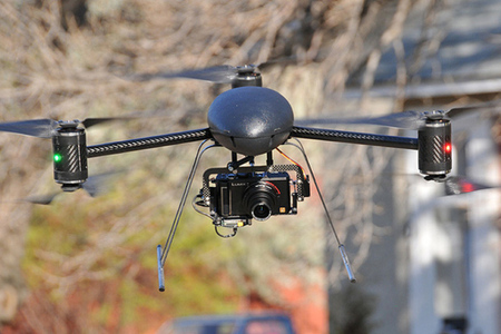 Draganflyer X6 helicopter drone