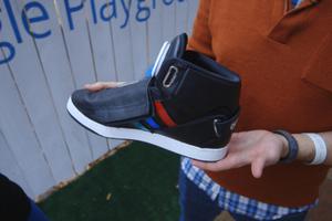Google talking shoe still