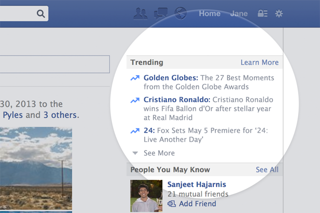 Facebook tracks hot topics with Twitter-esque Trending ...