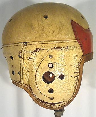 Leather-football-helmet-white-red