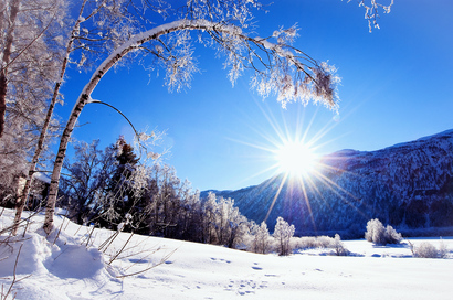 Nature-snow-winter-sun-mountains-trees