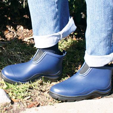 Woman wearing gardening boots