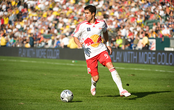 In Tim Hanley's eyes, Juan Pablo Angel of the New York Red Bulls is still the best striker in the league. Photo: John Todd, centerlinesoccer.com/isiphotos.com.