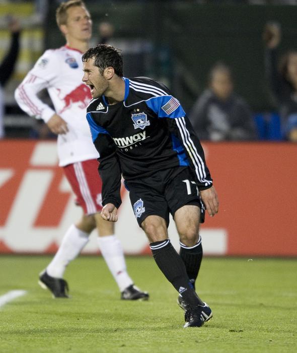 Gjertsen celebrates goal