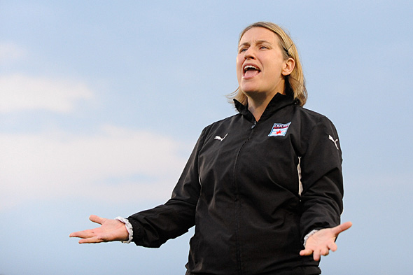 Emma Hayes, former head coach of the Red Stars, was fired by the team this week. Photo: Howard C. Smith, isiphotos.com