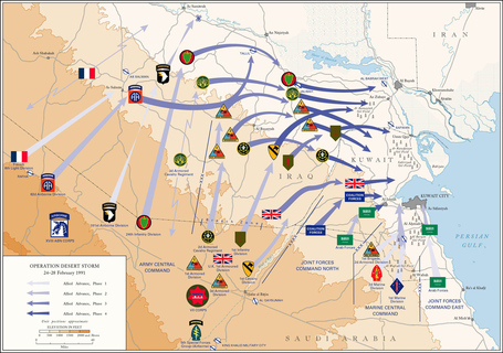 The 1990 Gulf War order of battle