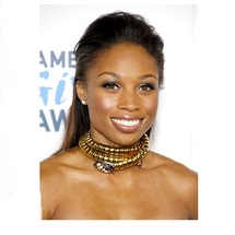 Allyson-felix-long-stright-brunette-half-updo-hairstyle2