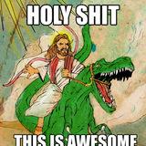 Jesusridingdinosaur
