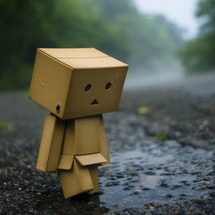 Sad-cardboard-robot