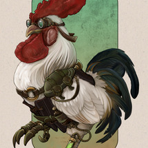 Steampunk_rooster_by_ursulav