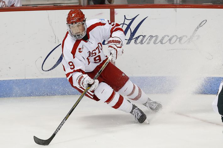 Hockey East: BU Unveils 'I Like Eich' Hobey Baker Button