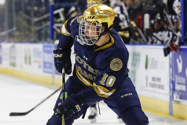 Hockey East: Late Second Period Explosion Propels Notre Dame Past Maine