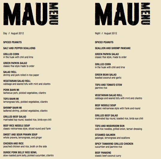 The menu for mau headed to valencia this fall eater sf mau20menu201g sciox Images