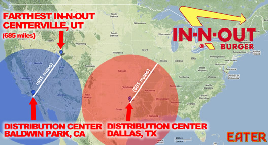 In-N-Out's New Dallas Distribution Center Means it Could Expand to on human migration map, edo japan map, in-n-out burger map, wall of china map, jack in the box map, cn railway map,