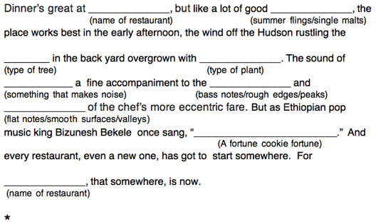 And Now... Sam Sifton Mad Libs! - Eater NY