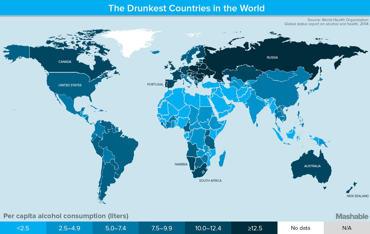 Top  Beer Drinking Countries In Africa