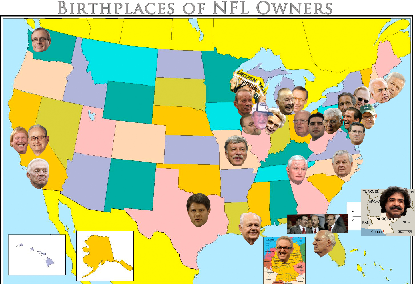 Maps That Explain The NFL SBNationcom - Map of us rooting for falcons