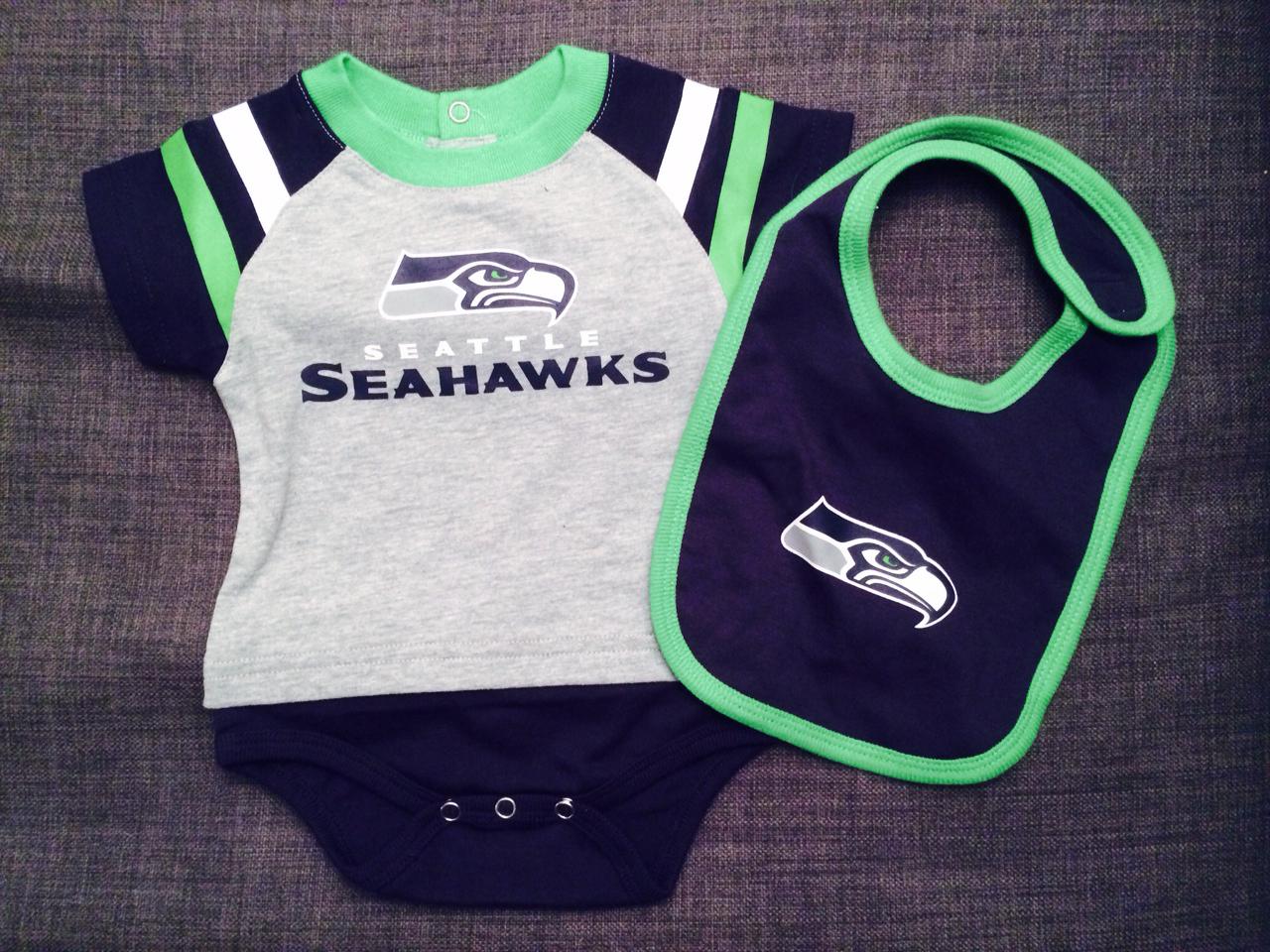 Seahawks onesie