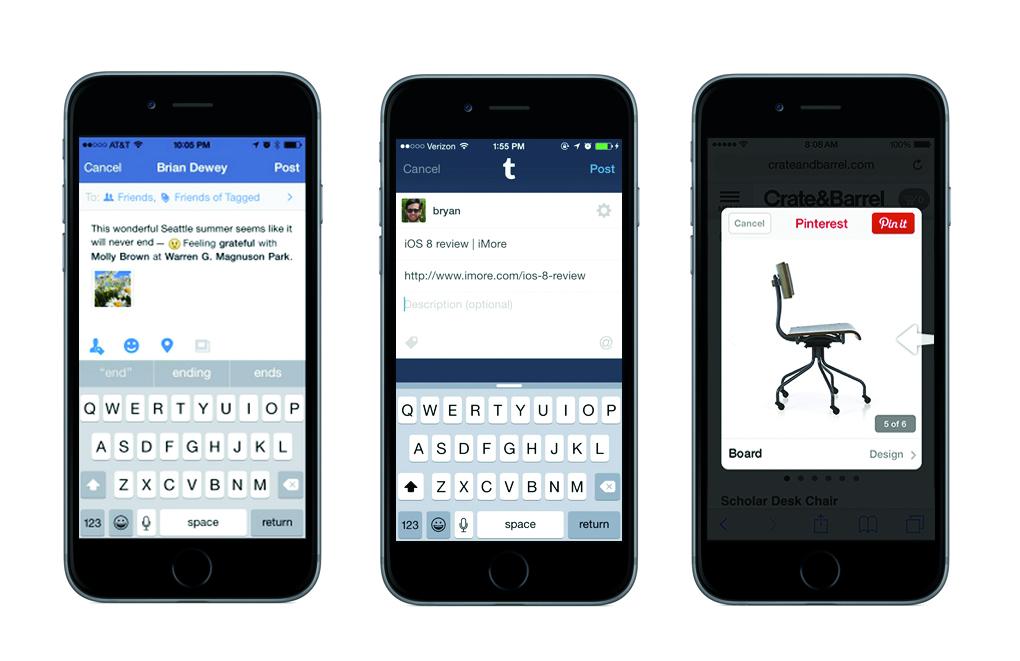 ios 8 iphones social networking