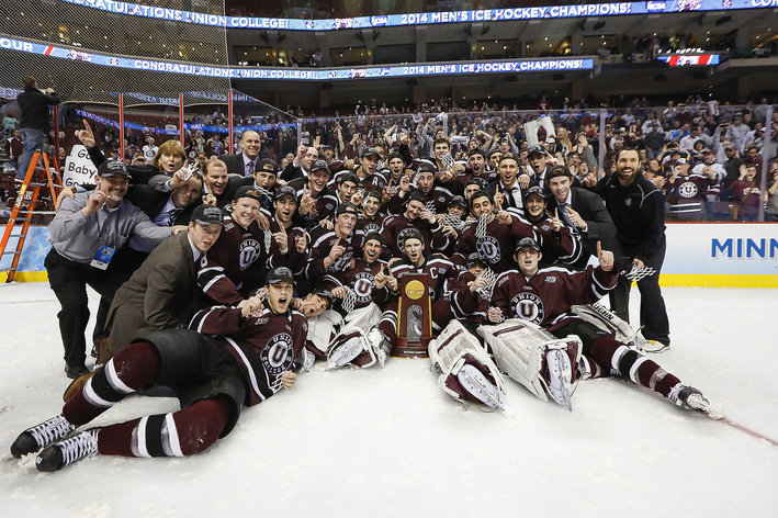 NCAA: 2014 Frozen Four - Wells Fargo Center Draws 36,503 For The Weekend