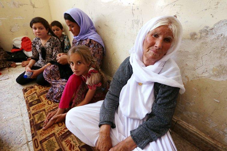 Yazidi refugees in Kurdistan Iraq