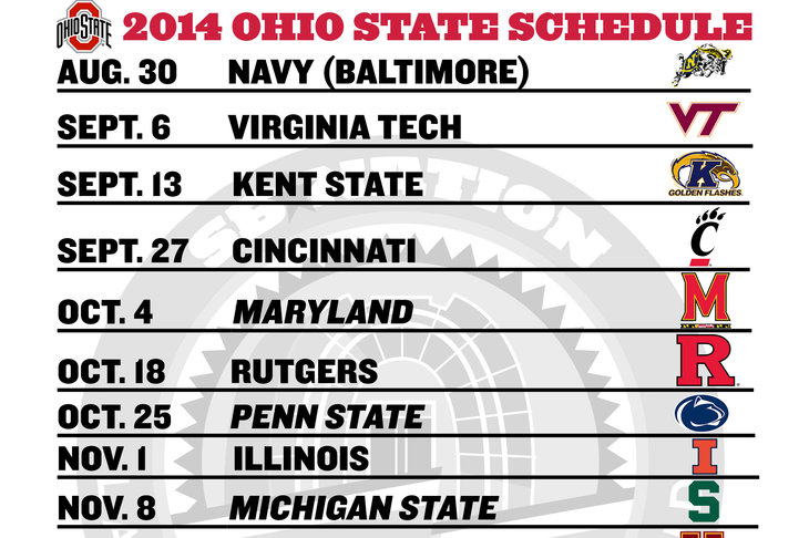 2014 college football schedule ohio state penn state spread