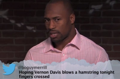 Vernon Davis among players reading 'mean tweets' on Jimmy Kimmel