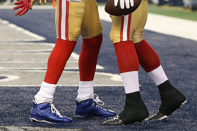 Michael Crabtree to auction off blue shoes for charity, likely to face fine
