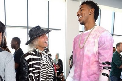 Nick Young and James Goldstein hung out at at New York Fashion Week