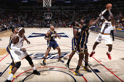 LeBron James gets his, but Pacers defense shows promise