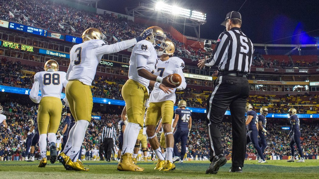 box score college football score of notre dame football game