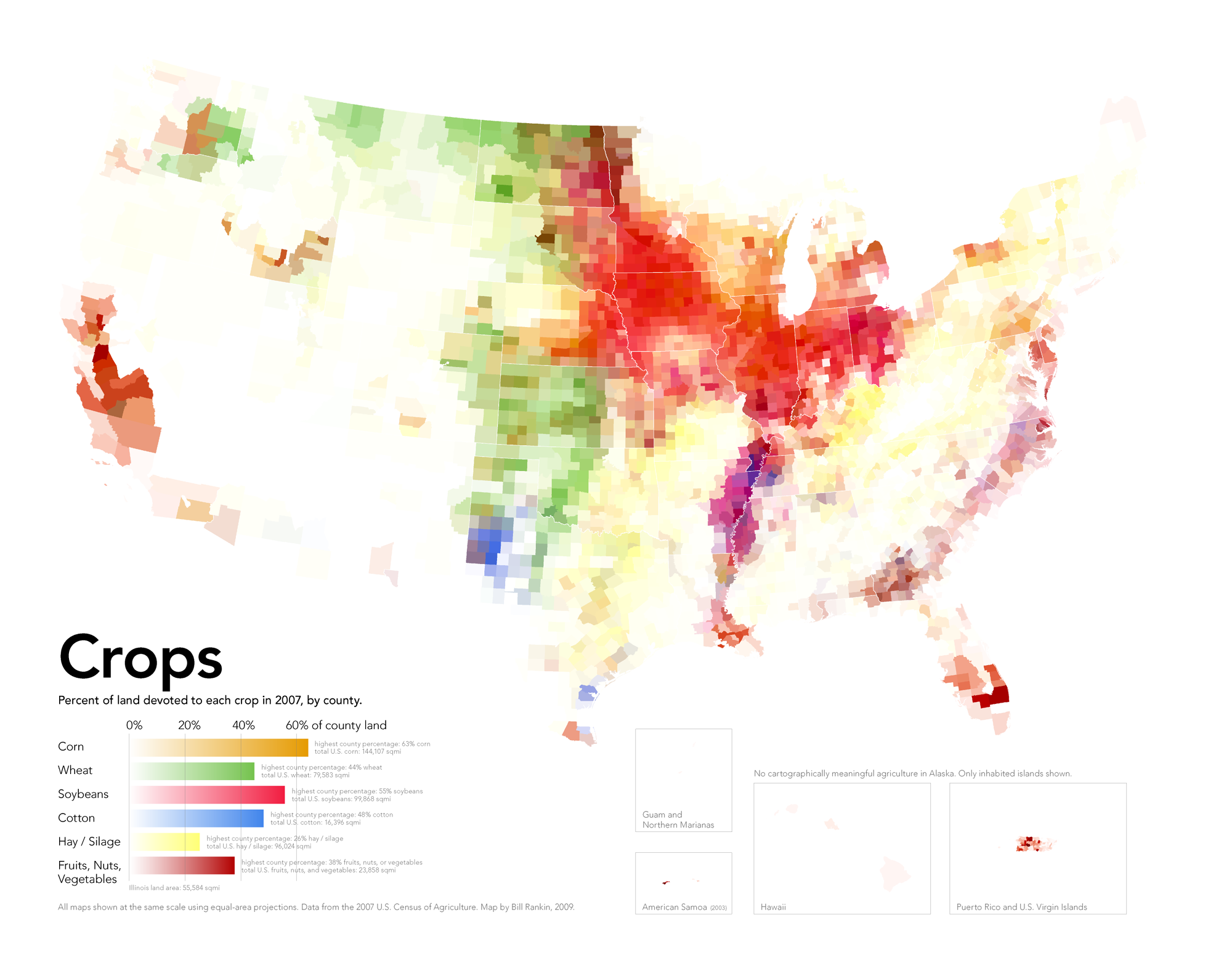 Maps That Explain Food In America Voxcom - Agriculture by state us map
