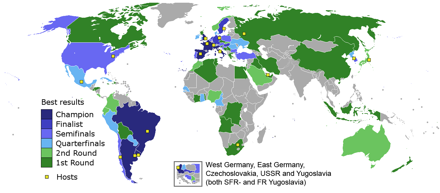 22 maps that explain the world cup vox each countrys best ever finish in the world cup gumiabroncs Gallery