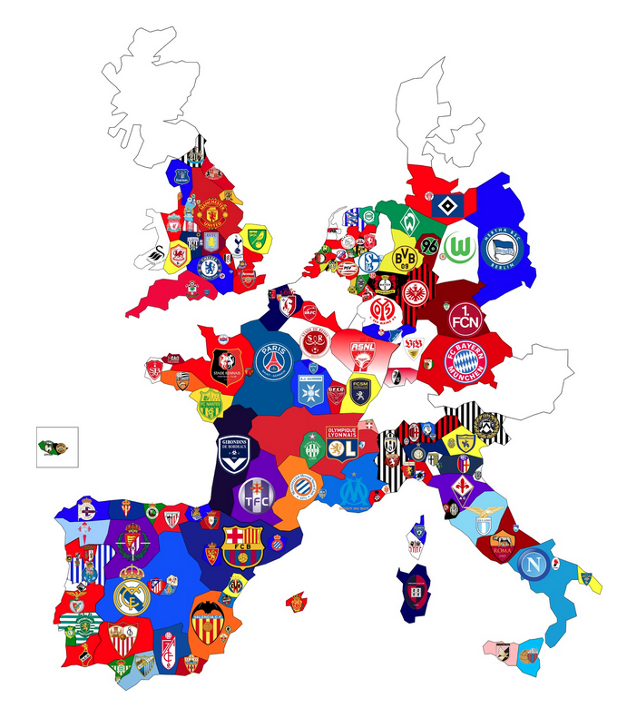 22 maps that explain the World Cup – Map of the European Continent
